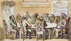 Der Denkerclub: Vormärzliche Karikatur zur Zensur