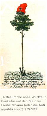Karikatur zum Mainzer Freiheitsbaum 1792/93