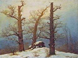 Friedrich Hünengrab im Schnee 1807