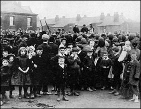 Streikversamllung in den Salford Docks 1907